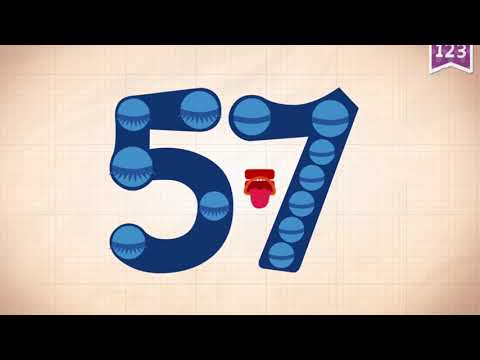 Learn Number 57 In English & Counting, Math By Endless Numbers   Kids Video