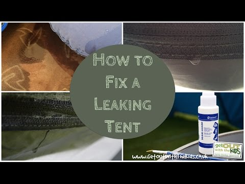 Stopping Tent Leaks with Seam Sealant & Stopping Tent Leaks with Seam Sealant - YouTube