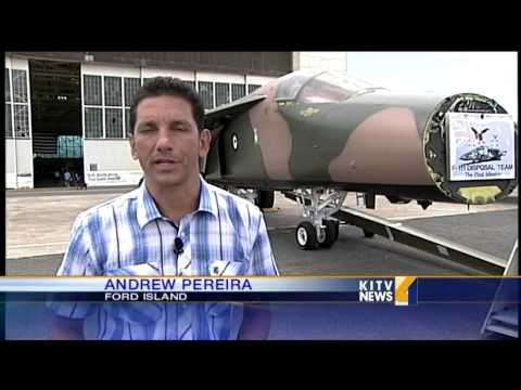 Sole remaining F-111 plane on display at Pacific Aviation Museum