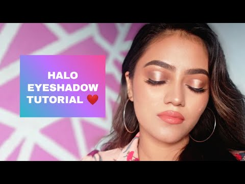 HALO EYESHADOW TUTORIAL | STEP BY STEP | NEPALI | BEGINNERS FRIENDLY | BABITA KHATRI 💕 thumbnail
