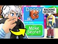 HACKER JOINS GAME And Turns Doggy Into SECRET PET! In BubbleGum Simulator (Roblox)