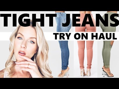 TIGHT JEANS MADE FOR CURVES   TRY ON HAUL   Fashion Nova