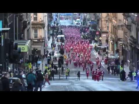 Glasgow Santa Dash 2018 In 2.5 Mins Flat!