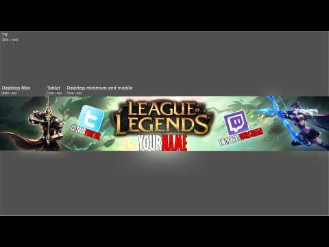 League Of Legends Channel Art FREE! Download Below!