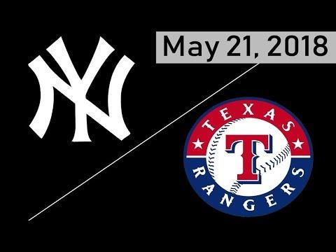 New York Yankees vs Texas Rangers Highlights    May 21, 2018