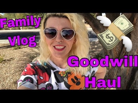 Part Time EBAY seller- family VLOG, Goodwill Trip thrifted Clothing Haul... What are COMPS