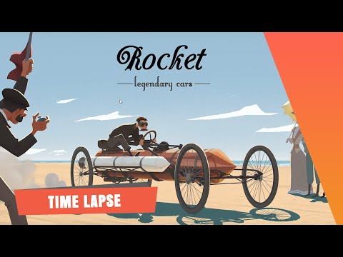 The SPA Studios. Marcin Jakubowski's Time Lapse Painting. Legendary Cars - Rocket.