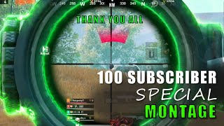 PUBGM MONTAGE | 100 SUBS SPECIAL | ft.INVISIBLE #Tamilplayer #PUBGM #ARUN #THANKYOUALL