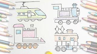 [thed] How to draw train easily, Draw Thomas / 토마스 그리기, 기차 그리는 방법