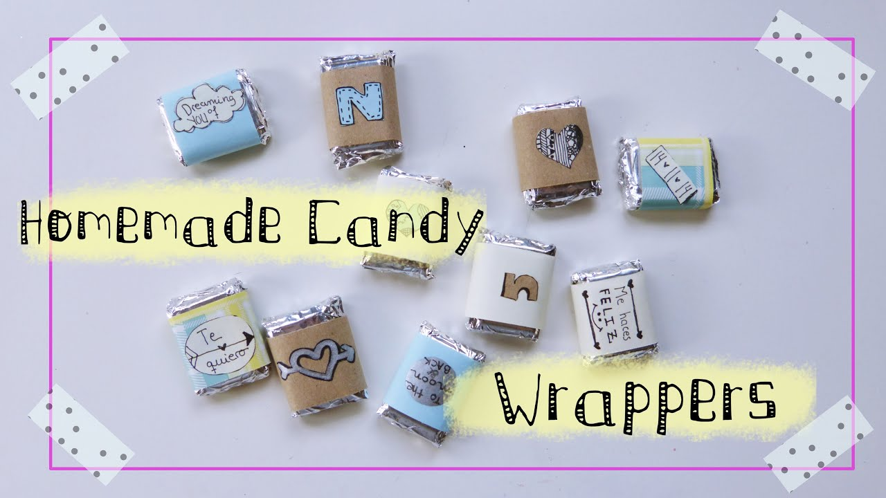make your own candy wrappers