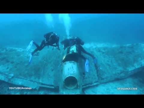 Incredible images show underwater graveyard of World War Two planes at the bottom of Pacific Ocean
