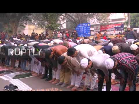 India: Muslims protest citizenship bill in New Delhi after Friday prayer