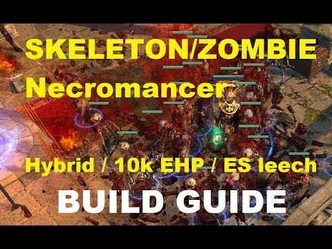 Path of Exile - Melee Skeletons/Zombie Hybrid Necromancer | 10k EHP / ES leech & tons of damage