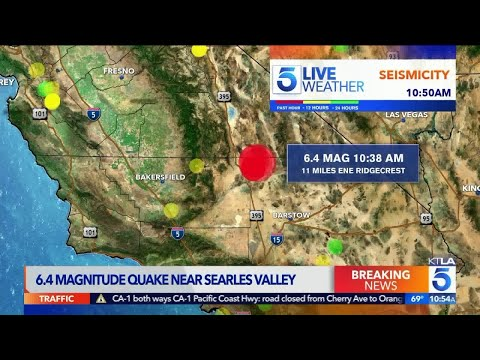 6 4 Magnitude Earthquake Rattles Southern California | KTLA 5 News Coverage