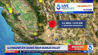6.4 Magnitude Earthquake Rattles Southern California | KTLA 5 News Coverage