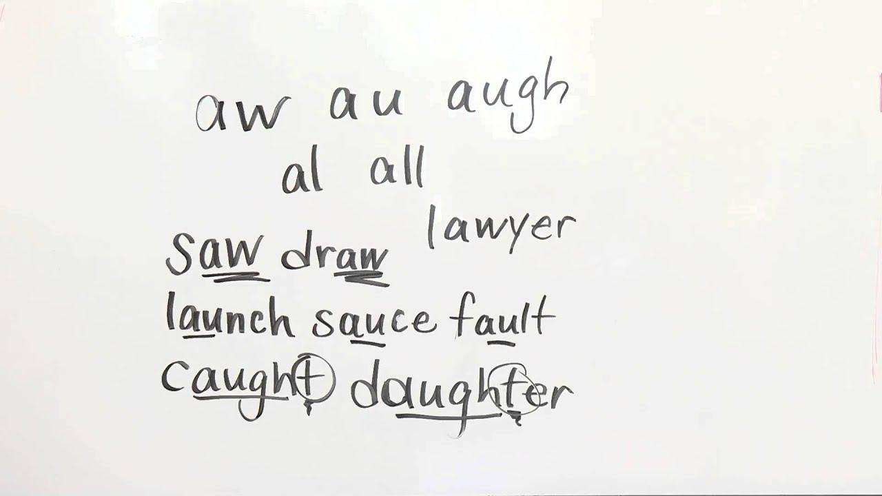 Lesson 7 Ambiguous Vowels Aw Au Al All