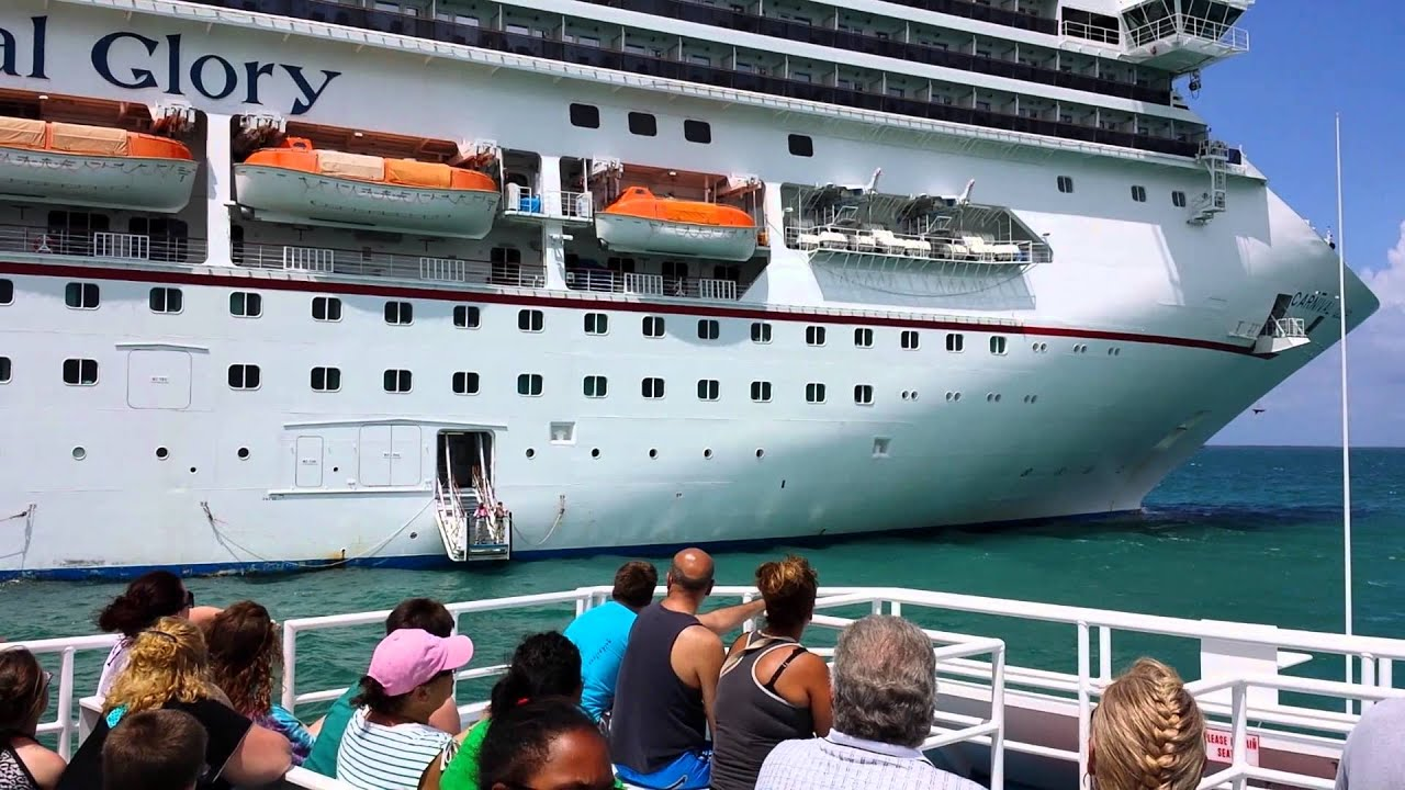Carnival Glory cruise ship in Belize - YouTube