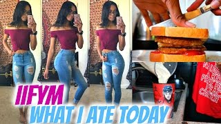 WHAT I EAT IN A DAY | IIFYM Full Day of Eating + Grocery Haul • Lawenwoss