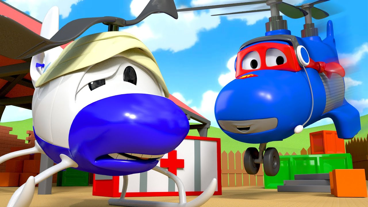 The Helicopter - Carl the Super Truck - Car City ! Cars and Trucks Cartoon for kids