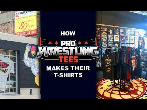 How Pro Wrestling Tees Makes Their T-Shirts