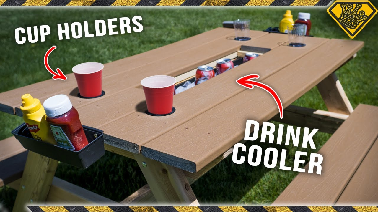 The ULTIMATE Picnic Table (Cup Holders Included)