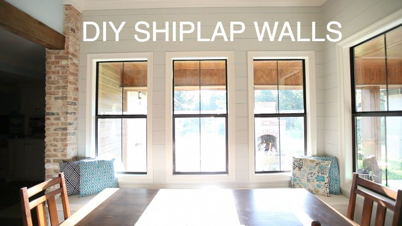 Superb DIY Shiplap Wall // HOW TO   YouTube
