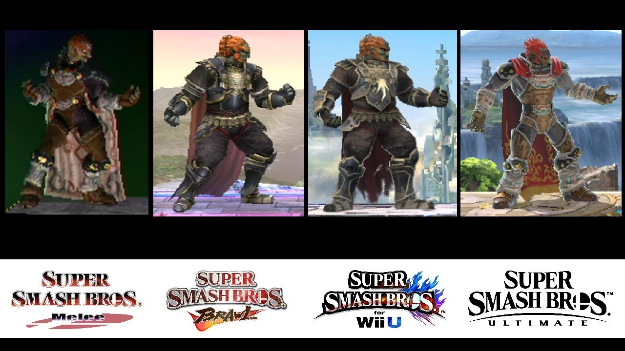 Evolution Of Ganondorf S Moveset In Super Smash Bros 2001 2018