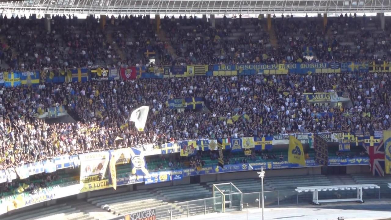 Hellas Verona - Carpi 1-1: Tifo Curva Sud Verona. - YouTube