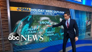 Winter forecast ahead of holiday travel rush l ABC News