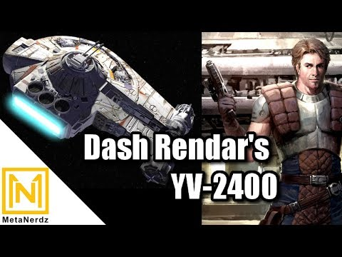 Han Solo's Rival Ship - Dash Rendar's Outrider YT-2400 Explained - Star Wars Ships