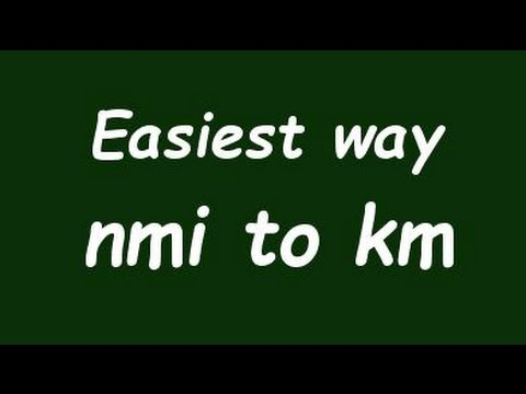 Convert Nautical Mile to Kilometer (nmi to Km) - Example and Formula