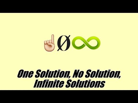 how to solve equations with infinite solutions