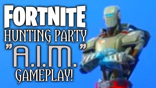 "Fortnite - Hunting Party ""A.I.M."" Skin Gameplay!"