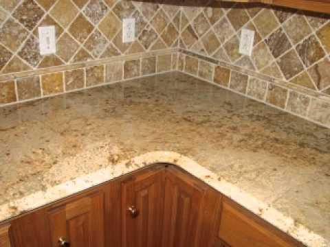 gold tumbled limestone backsplash youtube