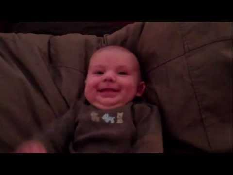 Baby Jackson scared by Daddy snoring - so funny!!!