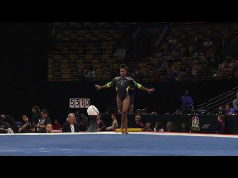 Shania Adams – Floor Exercise – 2018 U.S. Gymnastics Championships – Senior Women Day 1