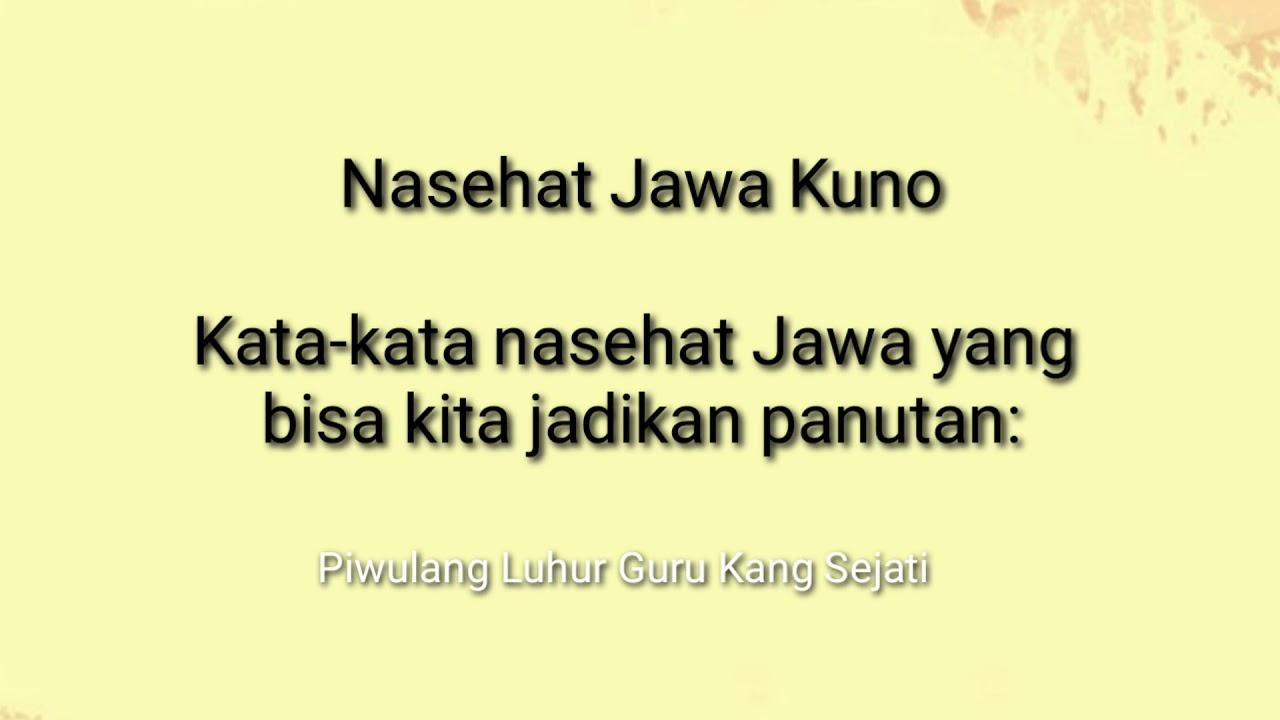 Nasehat Jawa Kuno Youtube
