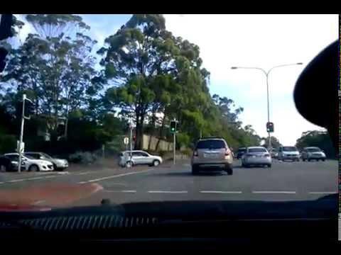 Driving on Australia Gold Coast Queensland Roads
