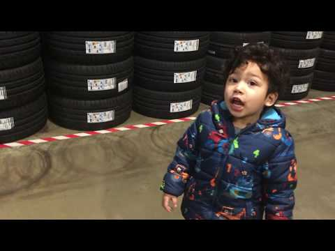 Michelin Car Tires Shopping in Costco: Toddler version