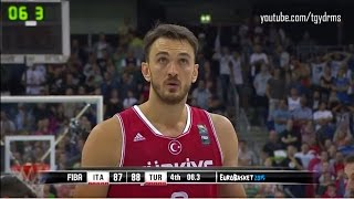 Türkiye - Italya Maçının Nefes Kesen Son Anları (89-87) | EuroBasket2015