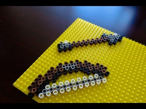 Minecraft Perler Bead Designs ep 5: How to make Bow & Arrow (Minecraft)  using Perler Beads