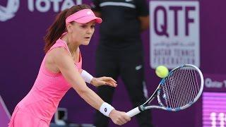 2016 qatar total open round of 16   agnieszka radwanska vs monica niculescu   wta highlights
