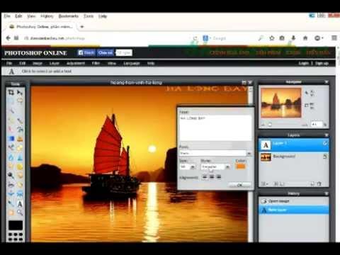 Chèn chữ vào hình ảnh đơn giản bằng Photoshop online