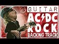 AC/DC Style Rock Backing Track in D