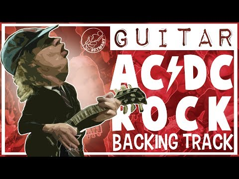 ACDC Style Rock Backing Track in D