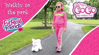 GoGo and I walk to the park: FurReal Friends Get Up & GoGo My Walkin' Pup