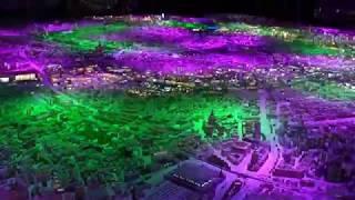 Макет Москвы на ВДНХ Световое шоу