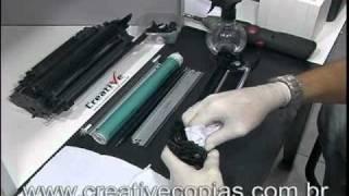 Video Aula Recarga Toner HP CE255A, CE255X, 55A, 55X. P3015, P3015N, P3015DN, P3015X