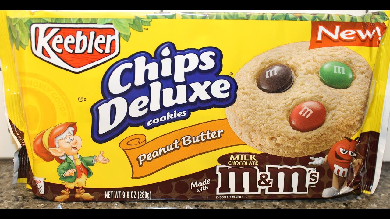 keebler chips deluxe peanut butter with milk chocolate m m s cookies