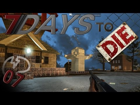 7 Days To Die Mindcrack Server - The Berlin Wall Guard Tower! #7 | Docm77